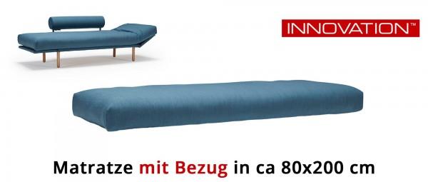 Matratze von Innovation ca. 80x200 cm für ROLLO Schlafsofa - mit Extra Bezug