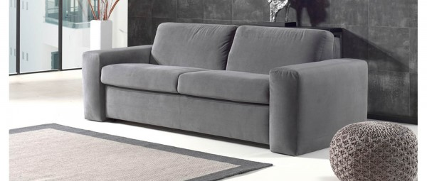 schlafsofa mit matratze und lattenrost hamburg deluxe von sofaplus. Black Bedroom Furniture Sets. Home Design Ideas