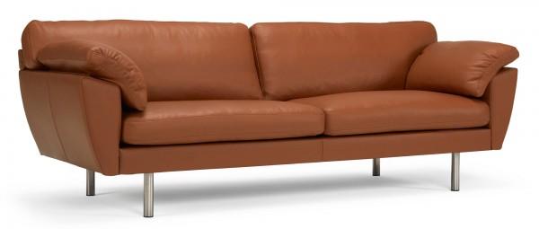 ARENDAL 3-Sitzer Designer Sofa mit breiten Polsterarmlehnen