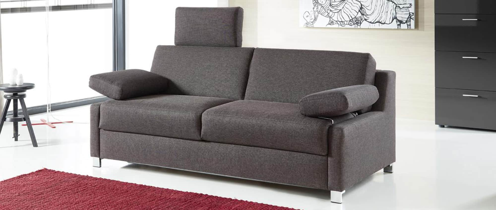 schlafsofa mit matratze und lattenrost flensburg deluxe von sofaplus. Black Bedroom Furniture Sets. Home Design Ideas