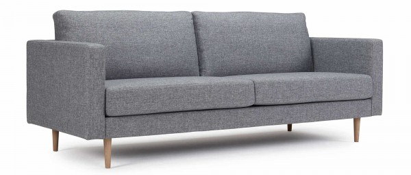 TRONDHEIM 3-Sitzer Designer Sofa mit Holz- oder Metallfüßen