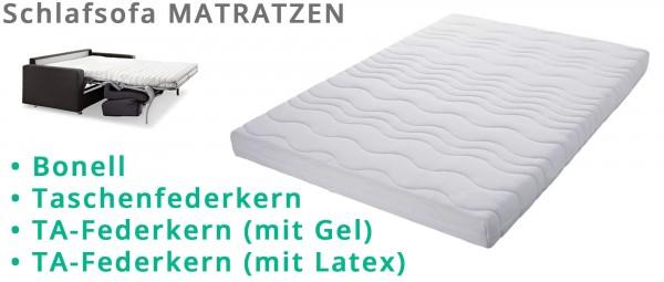 MATRATZEN für Schlafsofas - Federkern oder Taschenfederkern mit Latex in div. Größen