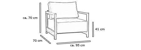BIFROST DELUXE EXCESS Sessel von Innovation Maße