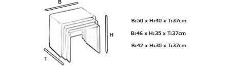 Plexiglas Beistelltisch MÜNCHEN von Edelber Maße