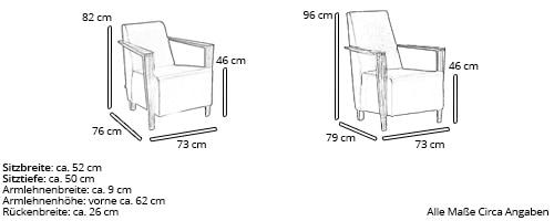 Franz Fertig Sessel DRESDEN Maße
