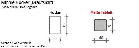 Franz Fertig Hocker MINNIE Maße