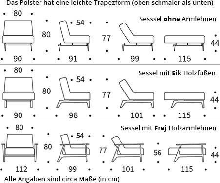 AMPLE Sessel von Innovation Maße