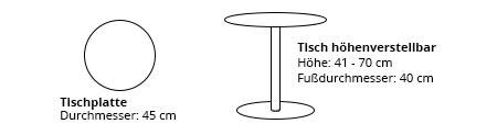KIFFA Tisch von Innovation Maße