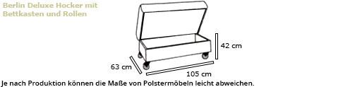 BERLIN DELUXE Hocker von sofaplus Maße