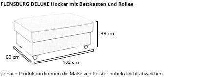FLENSBURG DELUXE Hocker von sofaplus Maße