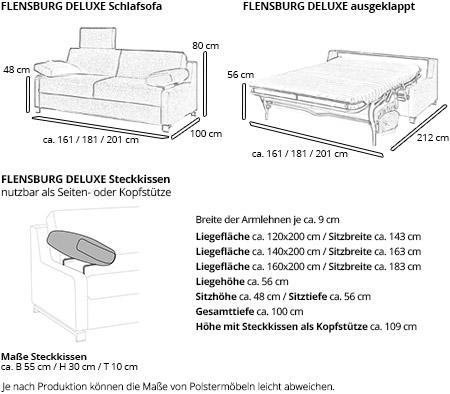 Schlafsofa FLENSBURG DELUXE von sofaplus Maße
