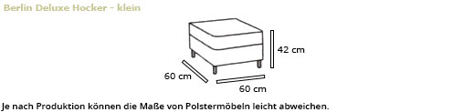 BERLIN DELUXE kleiner Hocker von sofaplus Maße