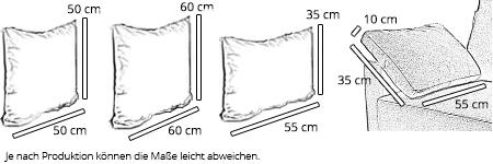 sofaplus KISSEN - Dekokissen, Seitenkissen - verschiedene Größen