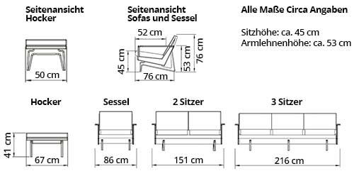 KOPENHAGEN OAK Designer Sessel von sofaplus Maße