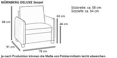 Sessel NÜRNBERG DELUXE von sofaplus Maße