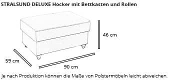 STRALSUND DELUXE Hocker von sofaplus Maße