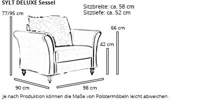 SYLT DELUXE Sessel von sofaplus Maße