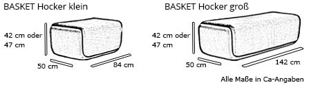 Softline Hocker BASKET Maße