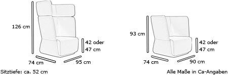 Sessel BASKET von Softline Maße