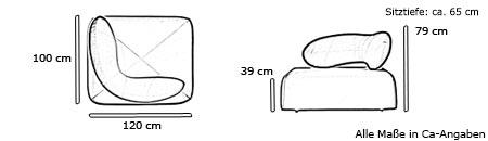 CHAT Sessel von Softline Maße