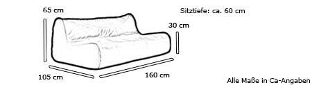 Sofa / Loungesofa FLUID von Softline Maße