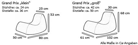 GRAND PRIX Sessel von Softline Maße