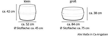 Sitzhocker LISBON von Softline Maße