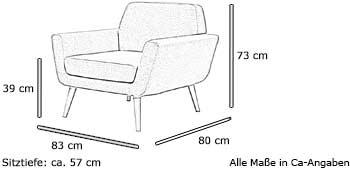 Softline SCOPE Sessel Maße