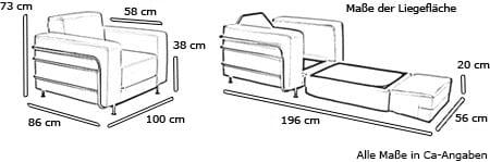 SILVER Sessel von Softline Maße