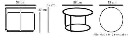Sitzhocker / Beistelltisch TOM von Softline Maße