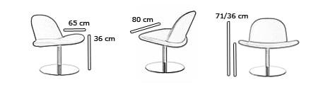 ORLANDO Sessel von Softline Maße