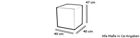 Sitzwürfel / Hocker POUF von Softline Maße