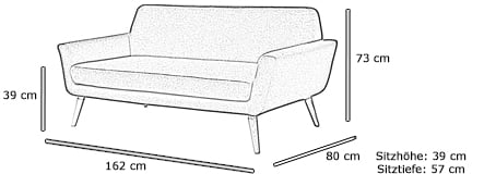 Softline Designer Sofa SCOPE Maße
