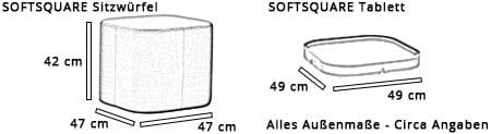 Sitzwürfel / Hocker SOFTSQUARE von Softline Maße