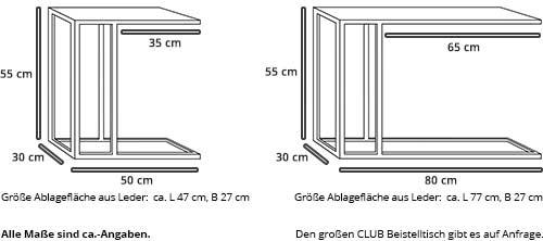 Beistelltisch CLUB von Swiss Plus Maße